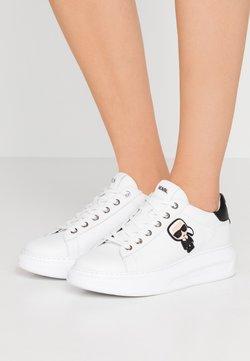 KARL LAGERFELD - KAPRI IKONIC LACE - Sneakersy niskie - white