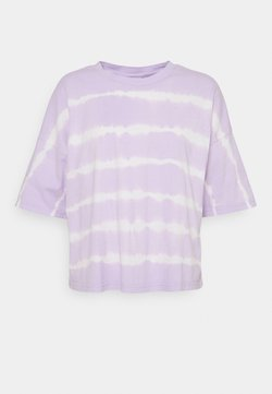 Noisy May Petite - NMBUSTER TIE DYE - T-Shirt print - pastel lilac