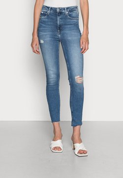 Calvin Klein Jeans - HIGH RISE SKINNY ANKLE - Jeans Skinny Fit - denim light