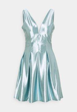 WAL G. - PLEATED SKATER DRESS - Cocktailklänning - light blue