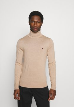 Tommy Hilfiger Tailored - FINE GAUGE LUXURY ROLL - Pullover - beige
