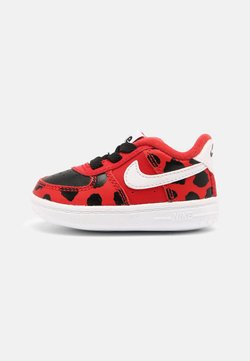 Nike Sportswear - FORCE 1 CRIB - Ensiaskelkengät - red/white/black