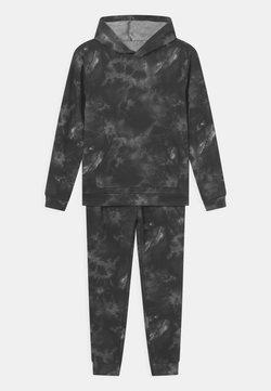 South Beach - TIE DYE HOODIE SET UNISEX - Dres - black