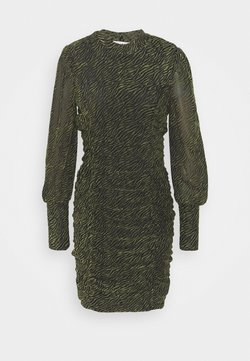 Vila - VITAFT DRESS - Etuikleid - black/ivy green