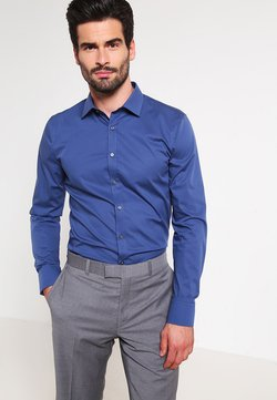 OLYMP No. Six - OLYMP NO.6 SUPER SLIM FIT - Kauluspaita - rauchblau