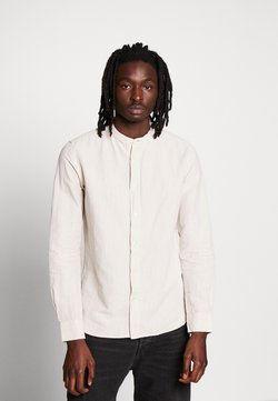 KnowledgeCotton Apparel - LARCH STAND COLLAR - Camisa - light feather gray