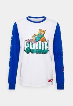 Puma - NBA 2K LONG SLEEVE - Pitkähihainen paita - white