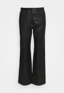 sandro - Pantalon en cuir - noir