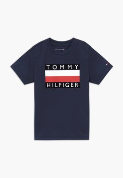 Tommy Hilfiger - BABY FLAG  - T-shirt print - blue