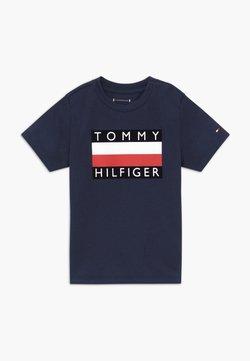 Tommy Hilfiger - BABY FLAG  - T-shirt print - blue