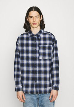 The Couture Club - SIGNATURE CIRCLE COUTURE BRUSHED CHECK - Hemd - blue