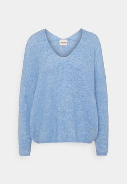 Mos Mosh - THORA V NECK - Neule - bel air blue