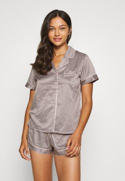 LingaDore - TOP WITH SHORTS SET - Pyjama - white/grey