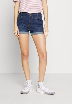 New Look - LIFT SHAPE SUSIE - Denim shorts - mid blue