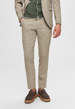 Selected Homme - SELECTED HOMME ANZUGHOSE SLIM FIT - Bukse - sand