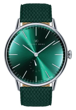 August Berg - UHR SERENITY GREENHILL EYE DARK GREEN PERLON 40MM - Montre à aiguilles -  green