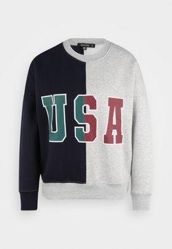 Missguided Petite - USA COLOUR BLOCK SWEATER - Sudadera - grey