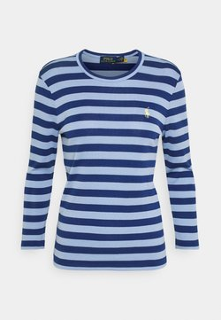 Polo Ralph Lauren - STRIPE LONG SLEEVE - Bluzka z długim rękawem - chambray blue