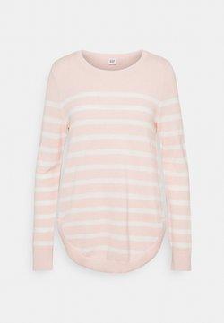 GAP - CURVE HEM CREW - Strickpullover - pink