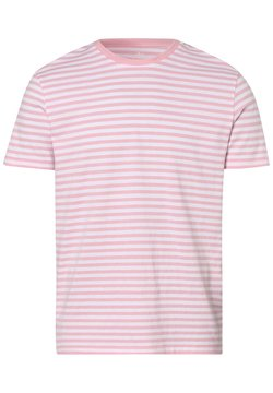 Nils Sundström - T-Shirt print - rosa weiß