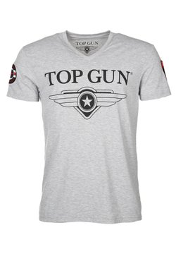 TOP GUN - T-shirt print - grey mélange