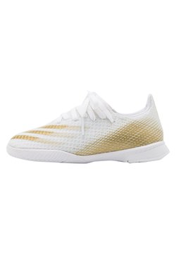 adidas Performance - X GHOSTED.3 FOOTBALL SHOES INDOOR UNISEX - Zaalvoetbalschoenen - footwear white/metallic gold