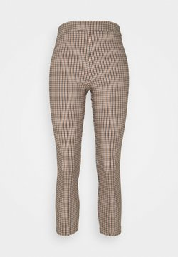 Miss Selfridge Petite - CHECK BENGALNE TROUSER - Stoffhose - brown