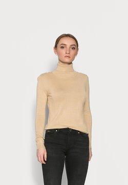 VILA PETITE - VIBOLONIA ROLLNECK - Sweter - off-white