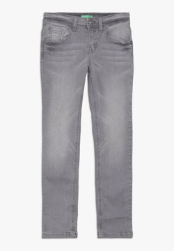 Benetton - TROUSERS - Slim fit jeans - grey