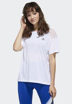 adidas Performance - UNLEASH CONFIDENCE T-SHIRT - Camiseta estampada - white