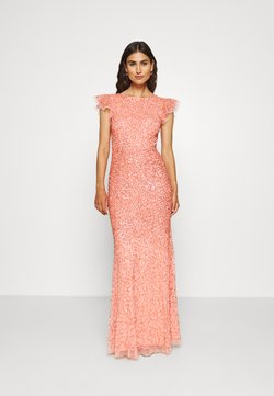 Maya Deluxe - ALL OVER EMBELLISHED DRESS - Vestido de fiesta - coral