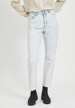 Vila - VILA STRAIGHT FIT JEANS CROPPED - Straight leg jeans - light blue denim