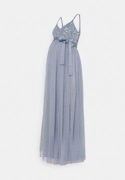 Maya Deluxe Maternity - STRIPE EMBELLISHED CAMI MAXI DRESS - Vestido de fiesta - dusty blue