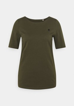 Marc O'Polo - SHORT SLEEVE ROUND NECK - T-Shirt basic - native olive
