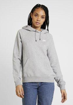 Nike Sportswear - HOODIE - Hoodie - dark grey heather/white