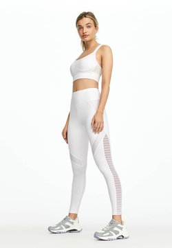 OYSHO - LEGGINGS IM BIKER-LOOK 32221222 - Tights - white