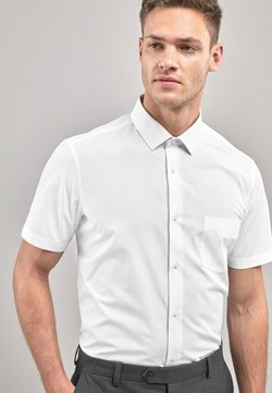 Next - WHITE SLIM FIT SHORT SLEEVE EASY CARE SHORT SLEEVE SHIRT - Camicia - white