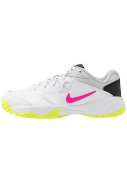 Nike Performance - COURT LITE 2 - Multicourt Tennisschuh - white/laser fuchsia/hot lime/grey fog