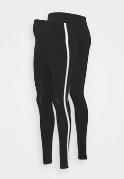 Anna Field MAMA - 2 PACK - Legging - black/white