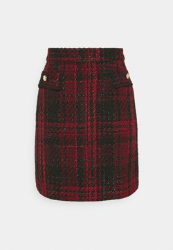 Wallis - TEXTURED SKIRT - Minirock - red