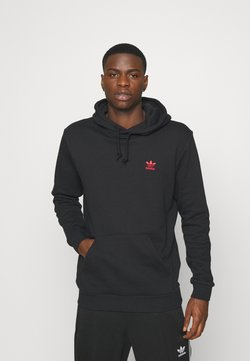 adidas Originals - ESSENTIAL HOODY - Kapuzenpullover - black/scarle