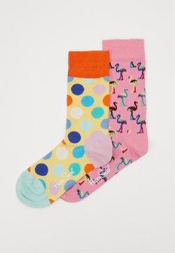 Happy Socks - 2 PACK FLAMINGO  BIG DOT  - Socken - multi