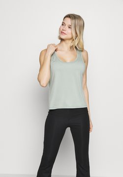 Cotton On Body - TWIST BACK TANK - Top - aloe