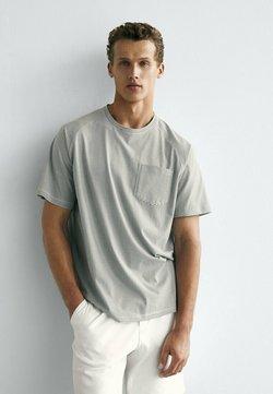 Massimo Dutti - T-Shirt print - green