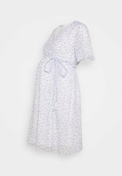 Glamorous Bloom - PIN SPOT WRAP DRESS - Vestido informal - white/lavender