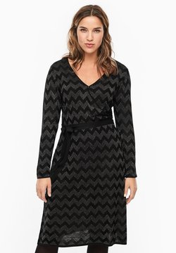 Triangle - MIT MUSTER - Strickkleid - black