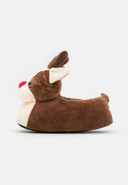Loungeable - XMAS BULLDOG - Chaussons - brown