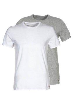 Levi's® - SLIM FIT 2 PACK  - T-shirt basic - mid mele/white