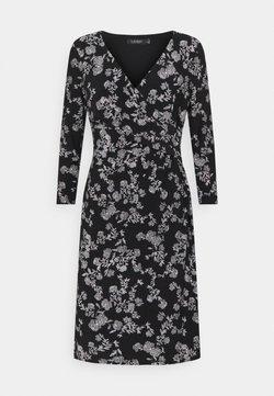 Lauren Ralph Lauren - CLEORA LONG SLEEVE DAY DRESS - Jerseykleid - black/colonial cream