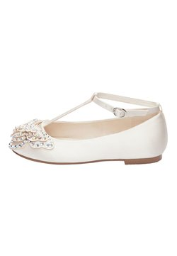 Next - IVORY EMBELLISHED BUTTERFLY T-BAR SHOES (OLDER) - Riemchenballerina - white